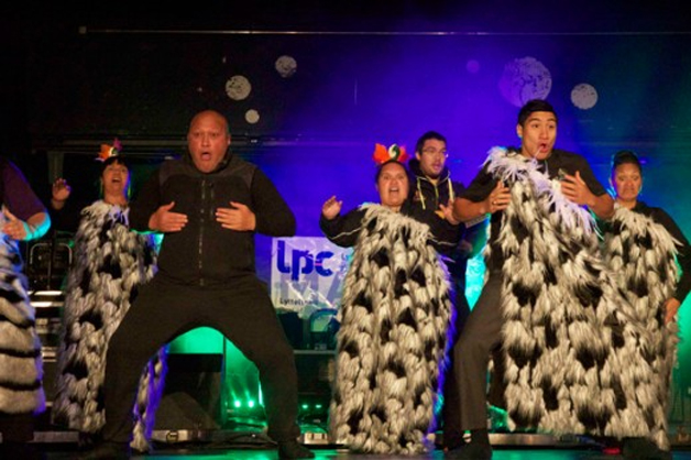 Te Ahikomau kapa haka rocking the stage.