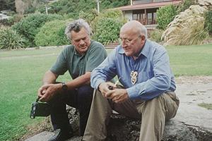 Cliff and Tā Tipene on the day Tā Tipene was made Ūpoko Rūnaka o Awarua.