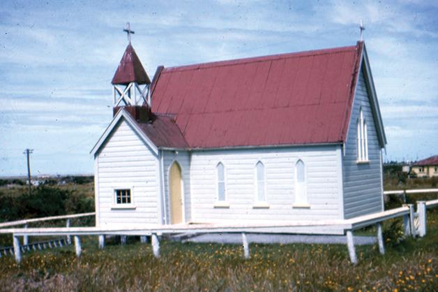 Photograph of St Pauls Anglican Church at Arahura (Collection of John Wilson).