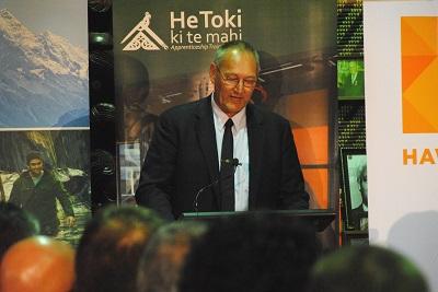 Tā Mark Solomon, Patron of He Toki ki te Rika - excited about the new apprenticeship scheme.