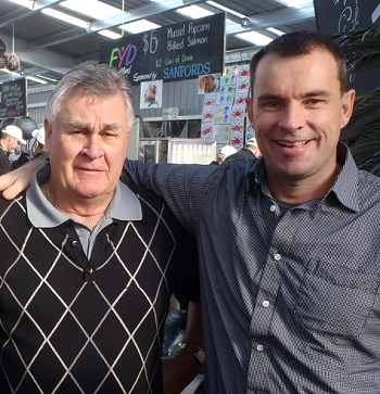 Ken Gray and Ngāi Tahu Seafood chief executive Campbell Cave enjoying the festival.