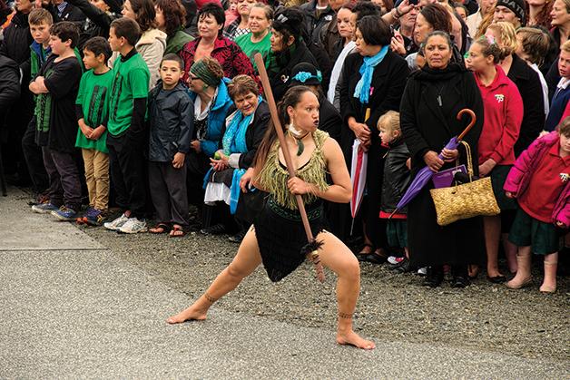 Te Amo at the opening of Tūhuru last year.