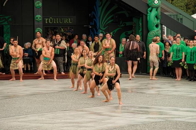 At the opening of Tūhuru last year.