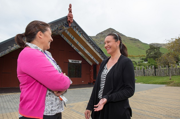 Health promoter Christina Henderson with Rāpaki office manager Cushla Dwyer. Copyright Neil Macbeth