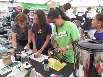 Making tea at Hauora Village, Te Matatini 2015.
