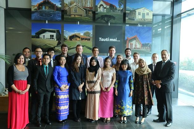 ASEAN delegation with some Ngāi Tahu rangatahi working at Te Rūnanga o Ngāi Tahu.