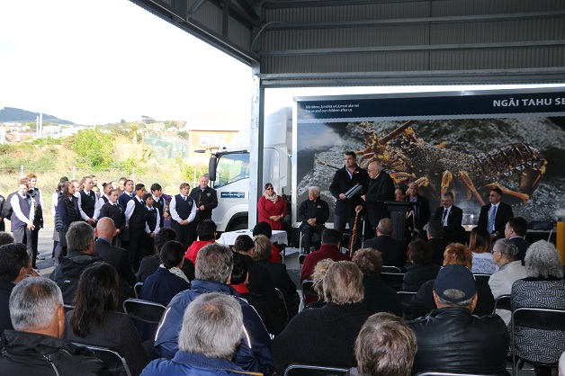 A good crowd attended the opening of the new Ngāi Tahu processing plant in Bluff.