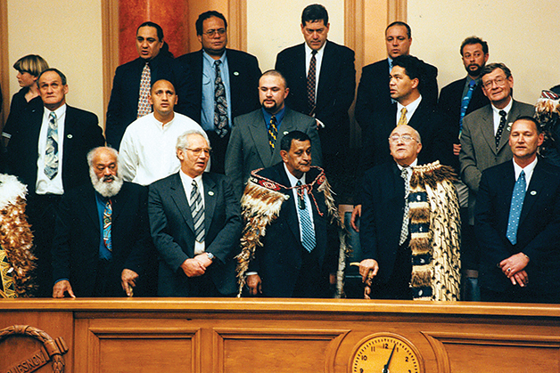 Third Reading of the Ngāi Tahu Claims Settlement Bill at Parliament,1998.