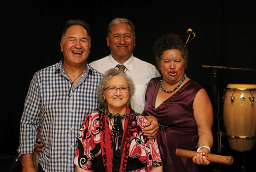 Back, from left: Tahu Stirling, Brett Cowan, Mahina Kaui; front: Rahui Denny.