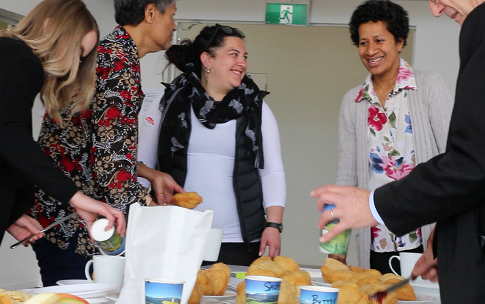 Whānau gather for the first Hei Whakapipi Mauri hui in Halswell recently.