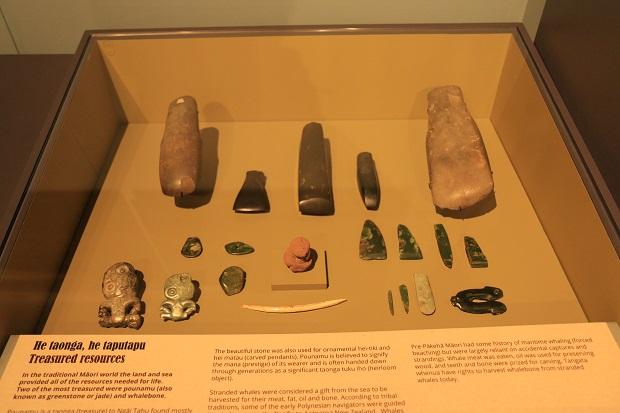 Taonga displayed at Akaroa Museum.